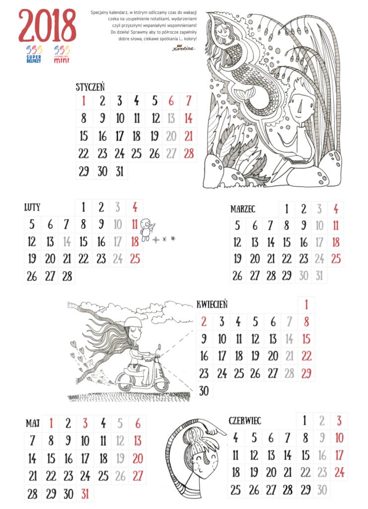 kalendarz do wakacji